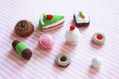 cute knitted sweets