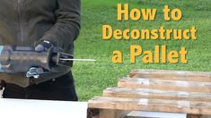 Pallet Disassembly | How To Deconstruct A Pallet for Pallet Furniture Tip: How to Deconstruct a Pallet - How to Take A Pallet Apart the Easy Way  You can view the full tutorial here and see other cool pallet projects - http://diyready.com/the-easy-way-to-deconstruct-a-pallet/ Pallet disassembly is easy when you follow our instructions. Video tutorial link: http://youtu.be/CarJ4jnABnY