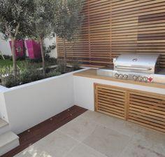 Various Projects - contemporary - Landscape - London - Harrington Porter Landscapes Ltd Casa Patio, Backyard Patio, Backyard Landscaping, Grill Area, Bbq Area, Outdoor Barbeque Area, Back Garden Design, Patio Design, Outdoor Spaces
