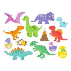 Wallstickers - Søde dinosaur med unger | wa00010 | kjøp den lige her