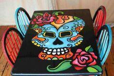 Sugar skull table
