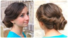 Easy Twisted Updo | Cute Girls Hairstyles