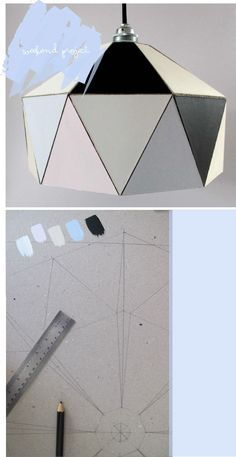 diy lamp geometric