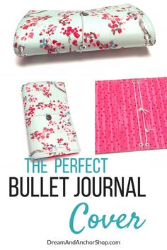 This spring fabric travelers notebook offers lightweight protection for your bullet journal or planner. The thick interfacing used in between the fabric creates a strong a durable notebook cover without weighing down your bag. Diy Notebook, Notebook Covers, Journal Covers, Handmade Notebook, Types Of Planners, Day Planners, Memory Journal, Junk Journal, Creative Notebooks