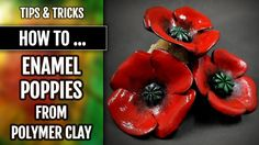 The Beading Gem's Journal: Faux Ceramic Polymer Clay Flower Jewelry Tutorials Using Low Temperature Enamels Polymer Clay Pendant, Polymer Clay Art, Polymer Clay Jewelry, Clay Projects, Clay Crafts, Diy Clay, Video Fimo, Clay Videos, Polymer Clay Flowers