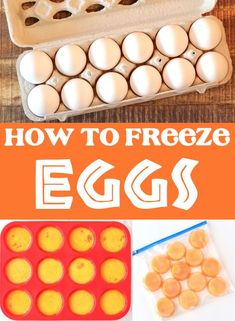 How to Freeze Eggs the Right Way - Food Storage Hack! You'll never toss out another egg once you know How to Freeze Eggs for Later Use! Frozen eggs are great for baking, cooking, and camping, too! Here's what you need to do... Frozen Cookie Dough, Frozen Cookies, Make Ahead Freezer Meals, Freezer Cooking, Milk Recipes, Brunch Recipes, Eggs In Muffin Tin, Silicone Cupcake Liners, Baking For Beginners