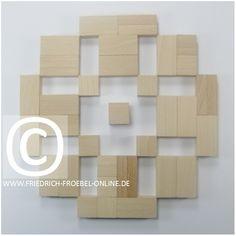 Schönheitsform mit den Holzbausteinen der Spielgabe 6 nach Froebel