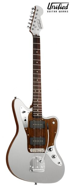 Unified Guitar Works Zephyr. This an electric guitar built with a chambered bamboo wood core and capped by aluminum plates on the top and back. With looks inspired by the famous Fender Jazzmaster and Jaguar, it retains everything you crave from a Jag or Jazzy but it's unique construction brings a tone and character like none you've ever heard.