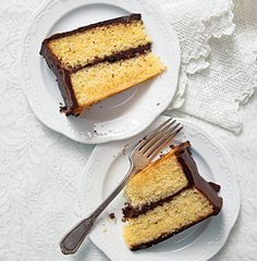 Yellow Cake with Fudge Icing | SAVEUR