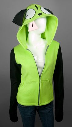 GIR from Invader Zim Costume Hoodie Made to by ShoriAmeshiko