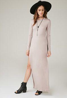 Marina T High-Slit Maxi Dress | Forever 21 | #f21brandedshop