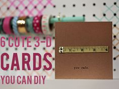 HGTV Crafternoon: Easy DIY Cards You Can Make in Five Minutes
