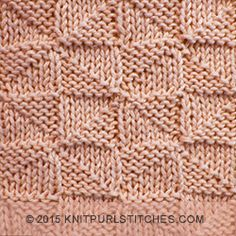 Pythagorean Triangle is created with knit and purl stitches. Reversible pattern looks identical on both sides.