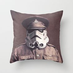 Pillow with star wars fan art.  Sgt. Stormley by Terry Fan.  #pillowart
