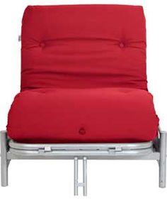Colourmatch Single Futon Sofa Bed With Mattress Poppy Red