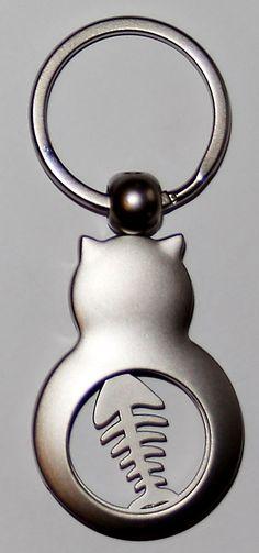 Geschenke für Pferde-Fans-Schlüsselanhänger-Einkaufschip Katze