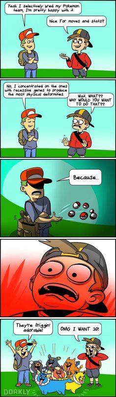 """The Effects of Selective Pokemon Breeding"" #dorkly #geek #pokemon"