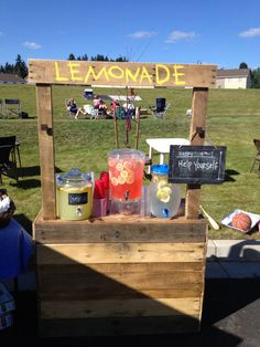 build it myself Lemonade Stand made from Recycled Pallet by HandmadeByHarrison, $150.00