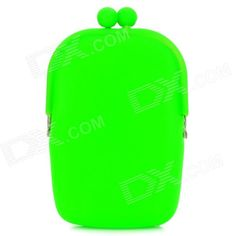 Quantity: 1; Color: Green; Material: Silicone + Metal; Gender: Women; Suitable for: Couple; Style: Fashion; Size: Free Size; Other: Long wallet for cashes, cell phone, camera and cosmetic storage; Packing List: 1 x Wallet; http://j.mp/1ljKi0O