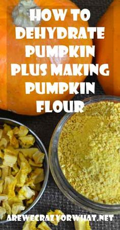 Step by step directions on how to dehydrate pumpkin and also how to make pumpkin flour to use in yeast bread. #beselfreliant