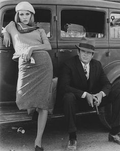 Faye Dunaway & Warren Beatty in Bonnie and Clyde