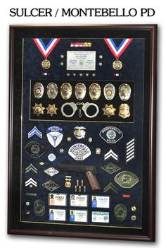 Police Shadbowbox Career Presentations from Badge Frame... http://www.badgeframe.com/pastprojects.html