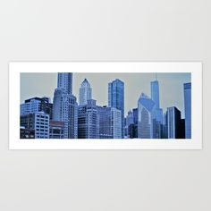 Chicago, Illinois Skyline. Downtown Chicago. Art print for sale @ society6.com