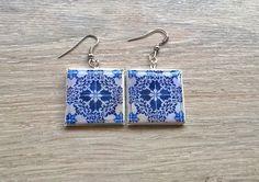 Lisbon antique tiles majolica tiles replica earrings by XTory