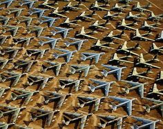 Preposterous and unexpected visuals in this article. Love the symmetry of the Aircraft Boneyard, USA. Other surprises: taxi graveyard, tuna anchors and the boats off of Mauritania.