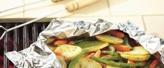 Keep vegetables tender by grilling them in a foil packet. Doing so also makes cleanup simple!