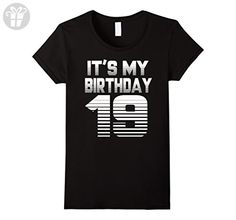 Womens It's My Birthday 19th T-shirt,1998 Birthday T-shirt Large Black - Birthday shirts (*Amazon Partner-Link)