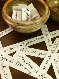 Pointed pen copperplate calligraphy phrases hand-lettered by Allison Milmoe. Copperplate Calligraphy, Calligraphy Letters, Modern Calligraphy, Brush Lettering, Hand Lettering, Addressing Envelopes, Note Cards, Gift Tags, Bee