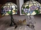 For Sale - Tiffany replica lamps blue and pink hidden butterfly