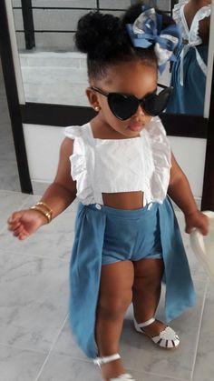 Cute Mixed Babies, Cute Black Babies, Beautiful Black Babies, Cute Babies, Beautiful Children, Cute Kids Fashion, Cute Outfits For Kids, Baby Girl Fashion, Black Baby Girls