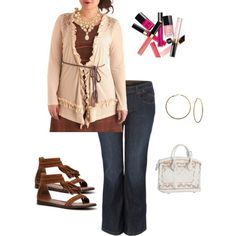 Super Trendy Plus Size Outfit~ Follow My Fashion Chick on Facebook~, created by jennifer-elmore-pascual