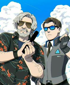 Hank and connor - - - - connor police deviant hank love game chibi love wallpaper animefan animestyle androide wallpaper detroit detroitbecomehuman Detroit Being Human, Detroit Become Human Connor, Luther, Geeks, Quantic Dream, Becoming Human, I Like Dogs, Human Art, Valentino Rossi