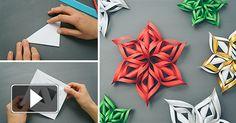 Paper winter decoration