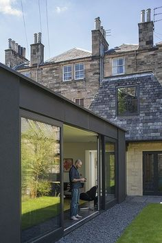 homes - edinburgh house: new extension attached to older building: