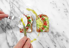 #HetheringtonToastParty Mix fruits and veggies on goat cheese smothered toasts and add a poached egg with a few drops of #HotSauce. Brilliant every time! jhessentials• • • • • • #JonnyHetheringtonEssentials #WaterCress #Pomegranate #Shallot #Avocado #GoatCheese #PoachedEgg #Egg #Breakfast #Brunch #HabaneroSauce #Habanero #Pineapple #Spicy #Hot #Natural #AllNatural #Vancouver #Cooking #Chef #Food #Foodporn #Yummy #Eat #PicOfTheDay #Foodstagram #FoodPhotography #FoodStyling