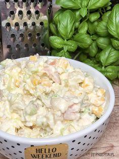 Sałatka Przyjęciowa Potato Salad, Salads, Food And Drink, Potatoes, Ethnic Recipes, Impreza, Diet, Kitchens, Food And Drinks