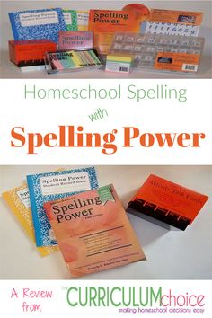 Homeschool Spelling with Spelling Power - The Curriculum Choice Spelling Power, Spelling Lists, Homeschool Curriculum Reviews, How To Start Homeschooling, Recorded Books, Three Kids, Decision Making, Book Activities, High School