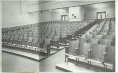 The original Creston High School Auditorium (1960), which was turned into the library in 1980.