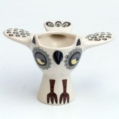 Yellow Owl Egg Cup £16.99 by Hannah Turner