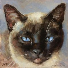 """I am Siamese if You Please"" original fine art by J. Dunster"