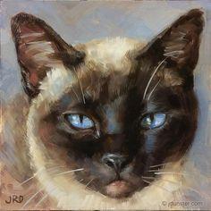 """I am Siamese if You Please"" original fine art by J. Dunster"