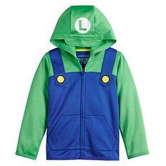 Funny Kid Halloween Costumes, Halloween 2016, Halloween Ideas, Luigi Costume, Super Mario And Luigi, Nintendo, Hoodies For Sale, Winter Hoodies, Jumping Beans