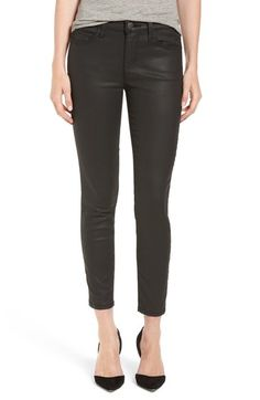 Current/Elliott 'The Stiletto' Coated Skinny Jeans (Black Coated) available at #Nordstrom