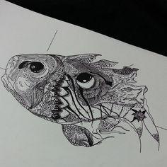 #illüstrasyon #fish #illustration #soul #life #sketch