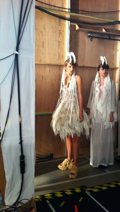 Behind the scenes #JohnRocha for #SS12 #backstage #readytowear #london