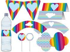 Blog da Tuty: Monte sua Festa - Arco-íris